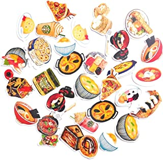 28pcs Set of Food Paper Stickers for DIY Arts and Crafts