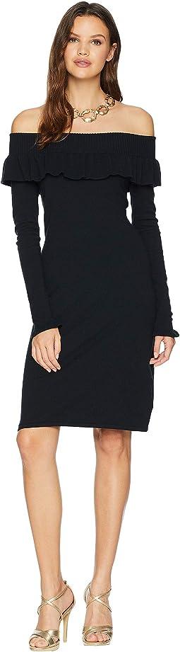 Moda Off-the-Shoulder Sweater Dress