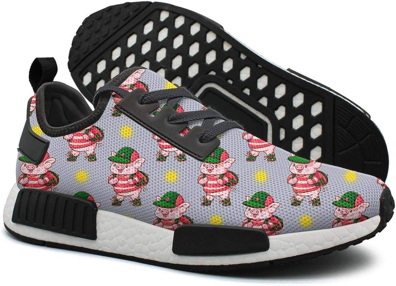Cute Cartoon Pigs Go to School Women's Cute Lightweight Sneaker Gym Outdoor Running shoes