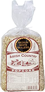 Amish Country Popcorn - Medium White Kernels (2 Pound Bag) Old Fashioned, Non GMO, and Gluten Free - with Recipe Guide