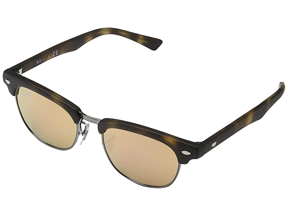Ray-Ban Junior RJ9050S Clubmaster 45mm (Youth) (Matte Havana) Fashion Sunglasses