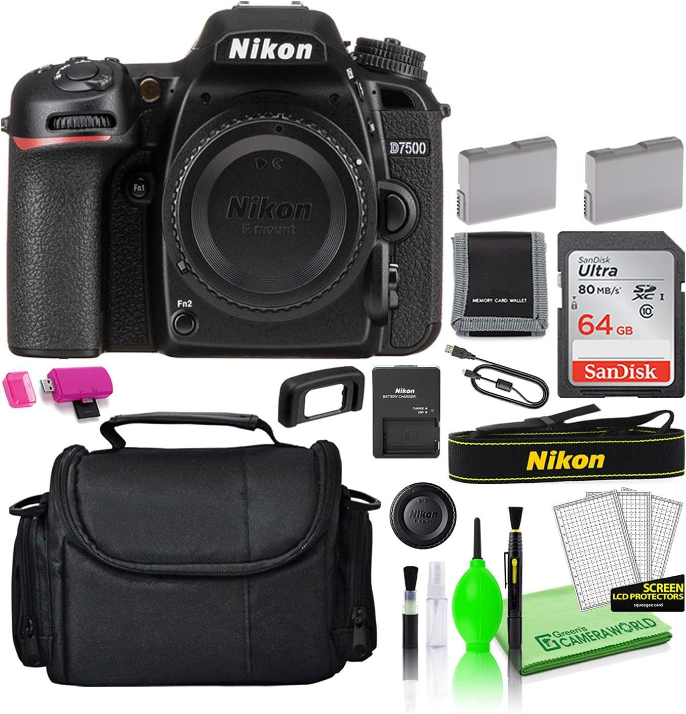 Nikon D7500 20.9MP DSLR Digital Camera (Body Only) (1581) USA Mo