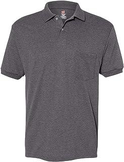 Hanes Men's Comfortblend Ecosmart Jersey Pocket Polo