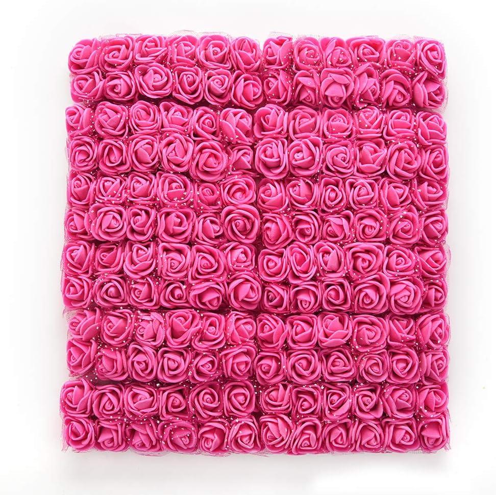 144pcs 2cm NWSX Fleur Artificiel,Fleurs artificielles Black Fleur artificielles Deco Mariage,capitules Fausse Fleur,Fleurs artificielles Deco,Rose Artificielle,Deco Mariage