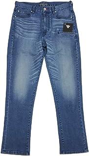 [BMC ブルーモンスタークロージング] スマホポケット付きジーンズ RUSH ラッシュ ストレッチデニム メンズ レギュラーテーパード