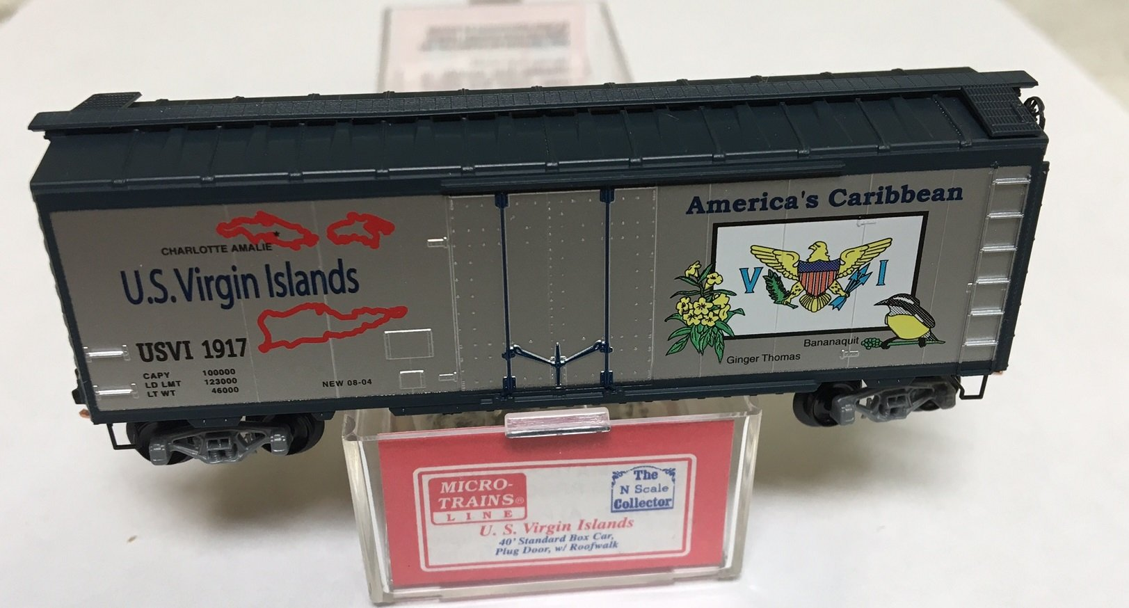 Micro-Trains MTL N-Scale 36ft Steel Cupola Caboose Norfolk /& Western//NW #562747