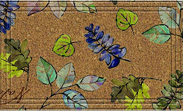 Naturelles Natural Leaves Door Mat 18 Inch By 30 Inch