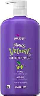 Aussie Miracle 护发素,含紫红色和竹子,适合细发,30.4 液盎司(4 瓶装)