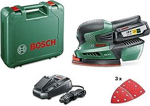 Bosch Cordless Multi Sander PSM 18 LI (1 Battery, 18 Volt System, 2.5 Ah, 3 x Sanding Sheets Included, in Case)