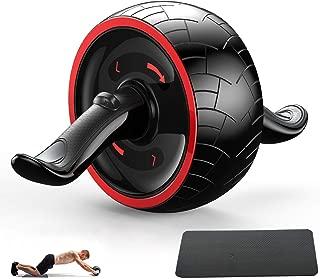 【最新進化版】腹筋ローラー アブホイール エクササイズウィル 超静音 エクササイズローラー 腹筋トレ 男女兼用 取り付け簡単 安定 膝マット付き