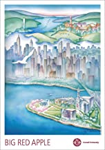 Cornell Tech-Cornell University, Ithaca to New York City, Map of Big Red, Watercolor Print 11.5x16.5