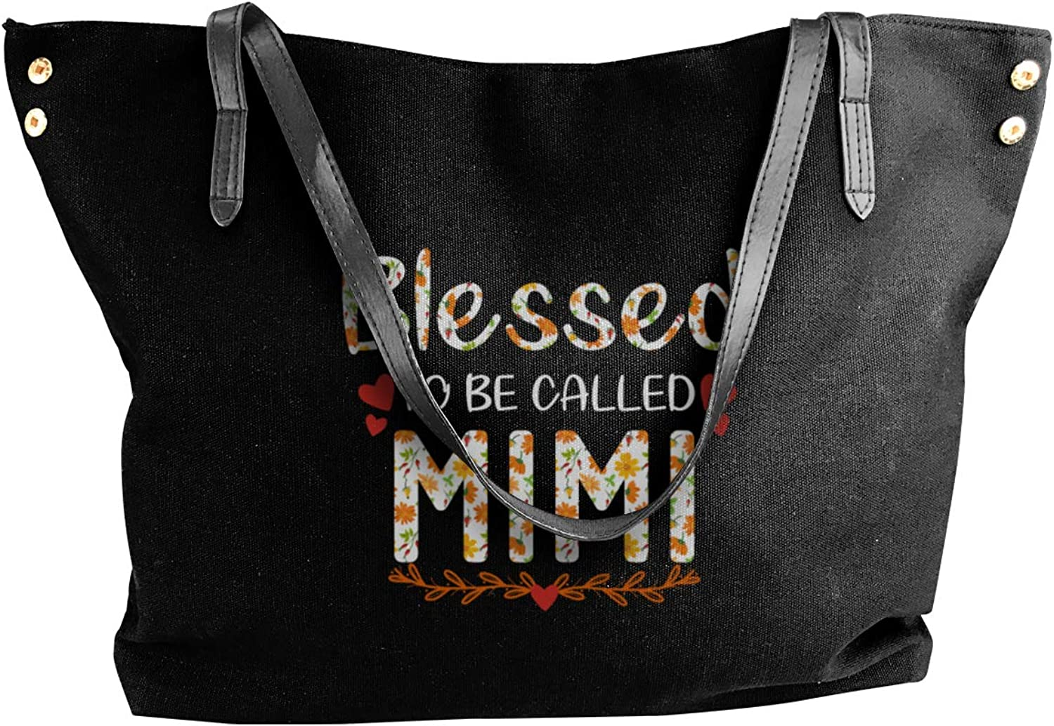 Blessed to Be Called Mimi Womens Tote Bags Canvas Shoulder Handbag Satchel Bag