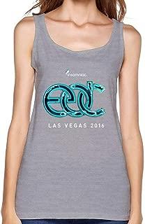 SUNRAIN Women's 2016 Electric Daisy Carnival EDC Las Vegas Logo Tank Top