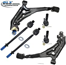 DLZ 6 Pcs Front Suspension Kit-2 Lower Lower Control Arm Ball Joint Assembly 2 Inner 2 Outer Tie Rod End Compatible with Nissan Maxima 1989 1990 1991 1992 1993 1994