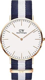 Daniel Wellington Classic Glasgow Watch, Multicolor NATO Band
