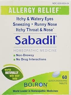 Boiron Sabadil Tablets 60 Tablets