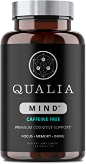 Qualia Mind Caffeine-Free Nootropics | Top Brain Supplement For Memory, Focus, Mental Clarity, And Concentration With Gink...