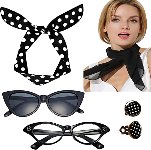 50s Costume Accessories Set for Women