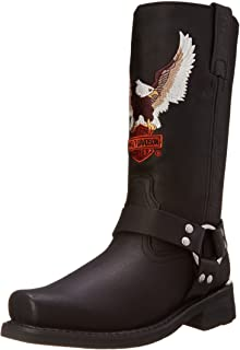 Harley-Davidson Men's Darren Motorcycle Harness Boot, Black, 10.5 W US