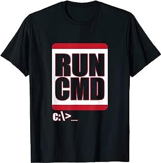 Run CMD T-Shirt Funny Computer Science Nerd Coder