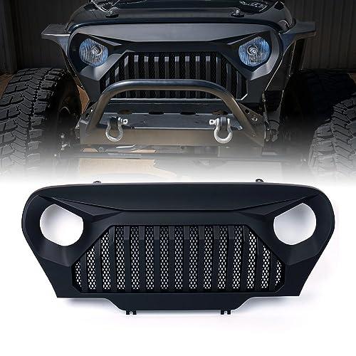 Xprite 1997-2006 Jeep Wrangler TJ LJ Front Matte Black Gladiator Vader Grille Grid Grill