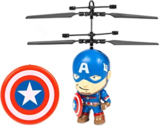 Captain America 3.5 inch Flying Character UFO Remote Control IR Marvel Helicopter