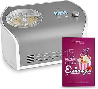 comprar comparacion Máquina de Hacer Helados con Compresor de 1,2 litros ELLI, Recetas incluidas, Heladera de acero para yogur, Sorbete y Hela...