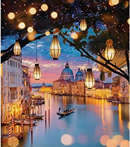 Diamond Painting Kits for Adults, Rhinestone Diamond Embroidery Kit Crafts for Beginner Boat in Town Full Drill 5d Diamond Painting Home Decoration 11.8x15.8 inch