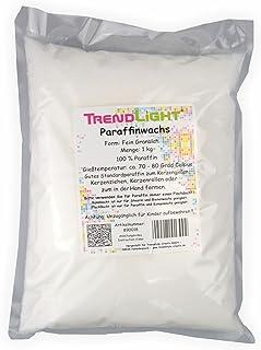 TrendLight Paraffin Paraffinwachs rein Weiss zum Kerzen herstellen 1 kg Markenqualität
