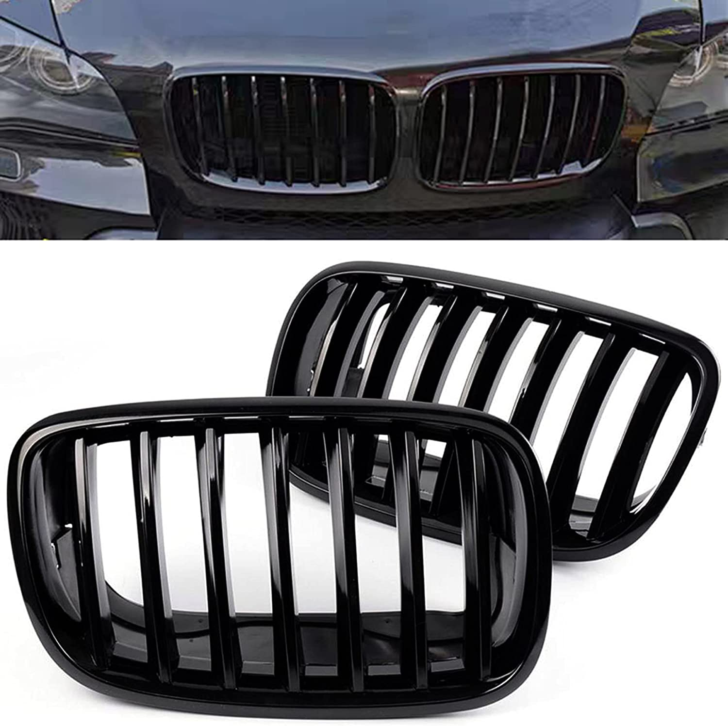 Choice BILLDIO Front Grille For 2007-2014 BMW X6 E71,ABS X5 Popular products E70 Gl