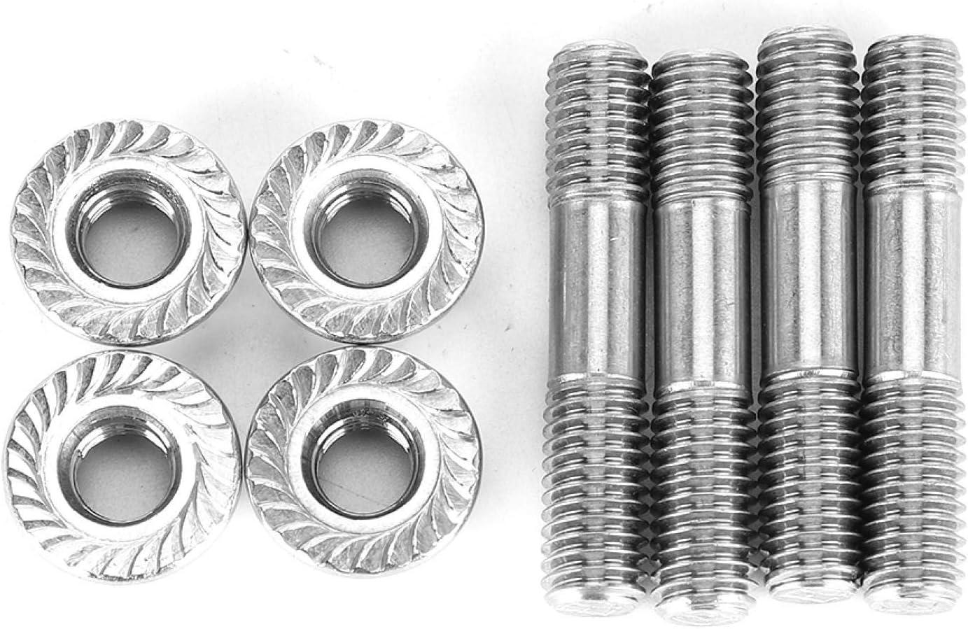 Espárragos de colector, tuercas de espárrago para sistema de escape de coche M8x1.25 42 mm/1.65 pulg.T25 T28 (4 piezas)