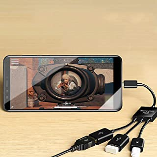 BuyB Adaptador 3 em 1 Micro USB para porta USB, cabo OTG para Fire Stick 4k, Samsung Galaxy, Amazon Fire Tv, LG, HTC Andro...