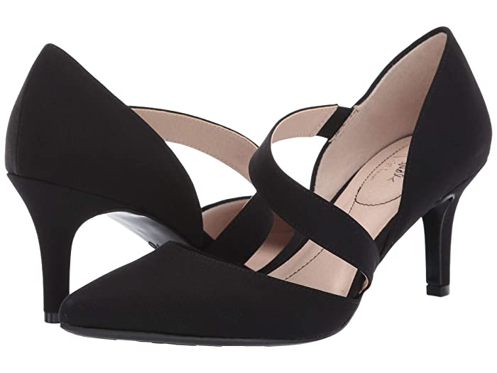 Vintage Heels, Retro Heels, Pumps, Shoes LifeStride Suki Black Fabric Womens 1-2 inch heel Shoes $46.26 AT vintagedancer.com