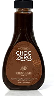 ChocZero's Chocolate Sugar-Free Syrup. Low Carb (1 Gram Net Carb), No Sugar, No Preservatives, No Sugar Alcohols. Thick an...