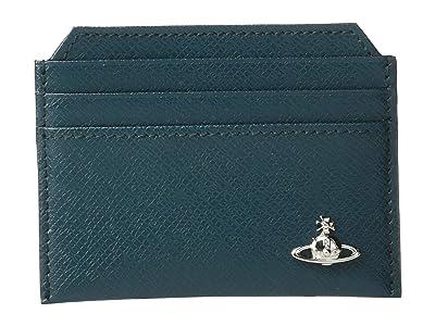 Vivienne Westwood Kent Slim Card Holder (Petrol) Handbags