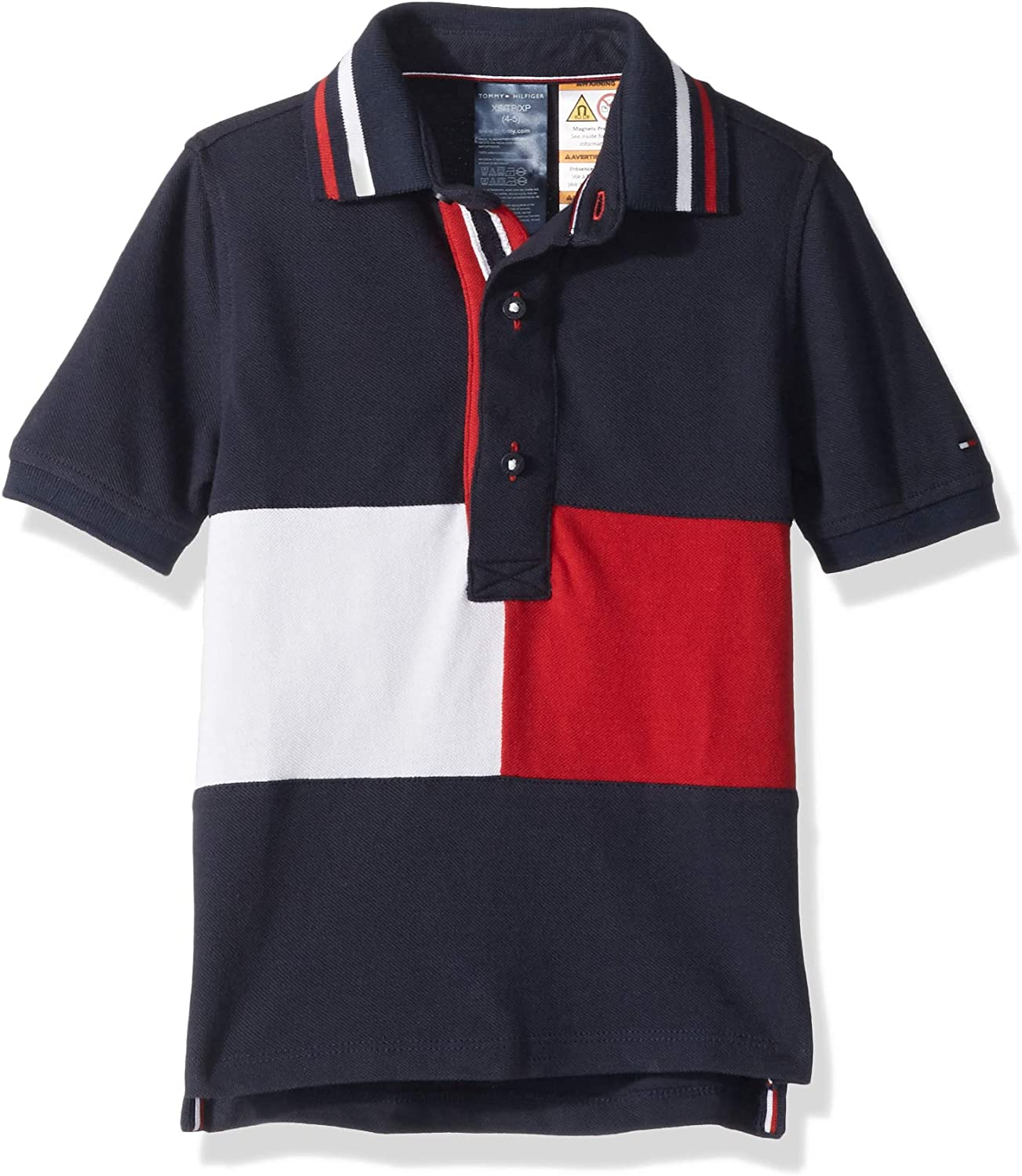 Tommy Hilfiger Boys' Big Adaptive Polo Shirt with Magnetic Buttons