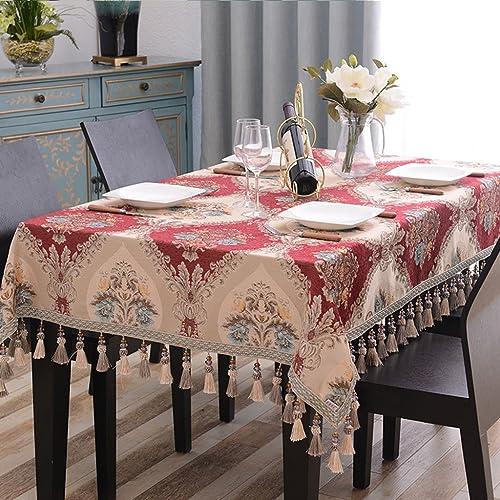 Qiao jin Tischdecke Rechteckige Tischdecke, Europ che Tischdecken Tuch Wohnzimmer Haushalt Tischdecke Tischdecke Kaffeetisch Tuch (Farbe   C, Größe   120  120cm)
