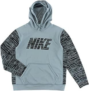 KO Camo Block Pullover Mens Grey/Black Training Hoodie, Large