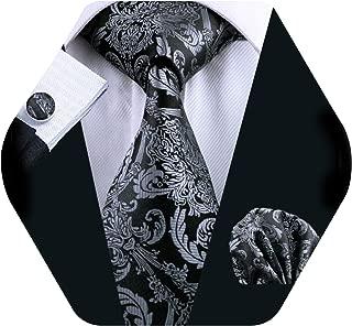 black and silver necktie