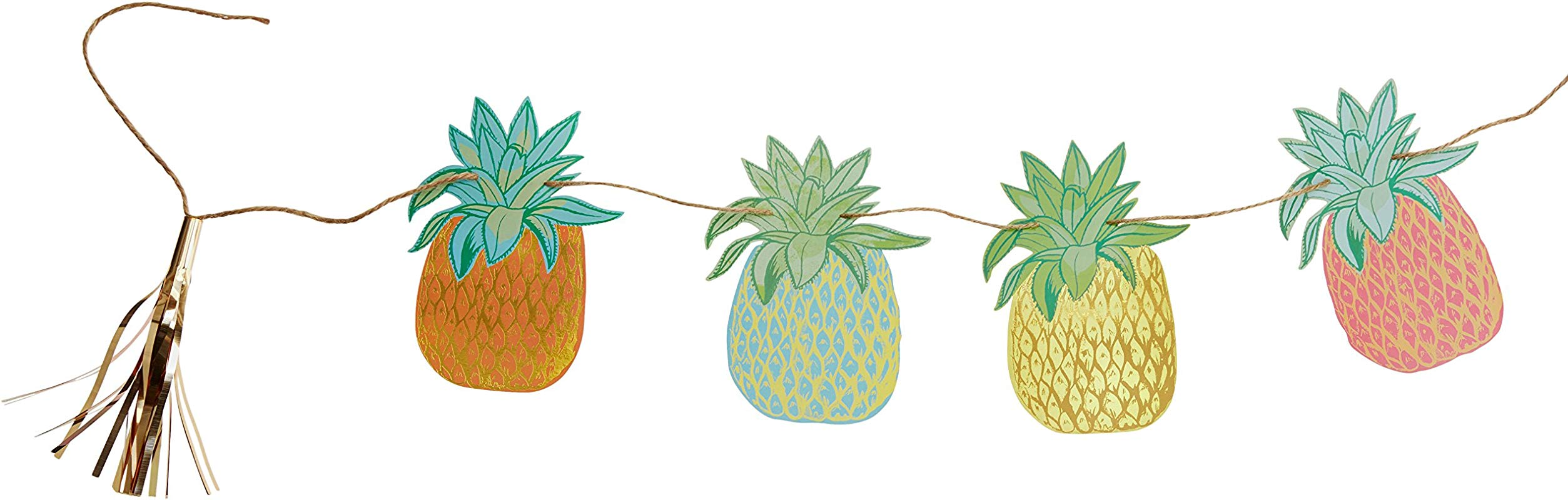 Talking Tables Fiesta Pineapple Hanging Bunting For A General Party Decoration Or Birthday Party Multicolor