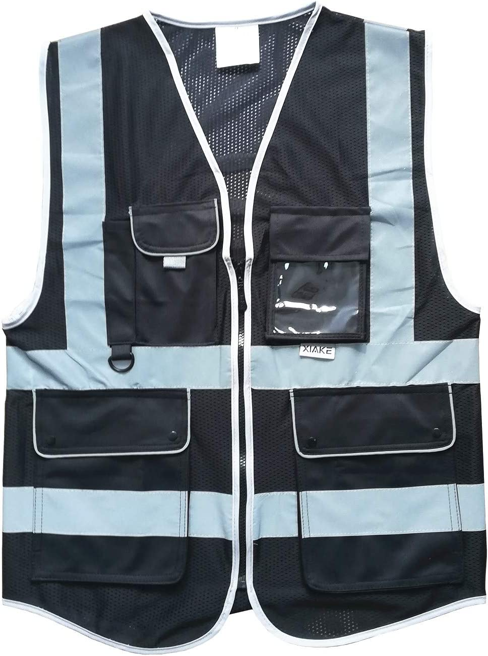 XIAKE Black Rapid rise Mesh Max 69% OFF Safety Vest with Meets Front Zipper Pockets 8
