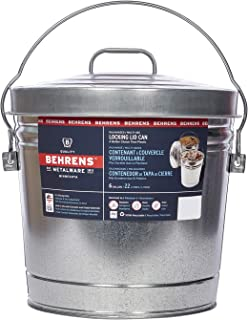 Best Behrens Galvanized Steel Can with Locking Lid 6 Gallon Review