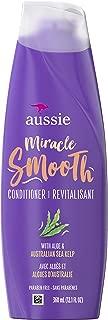 Aussie 毛糙发,无防腐剂奇迹顺滑护发素,含芦荟和皮脂,12.1 液体盎司,6 支装