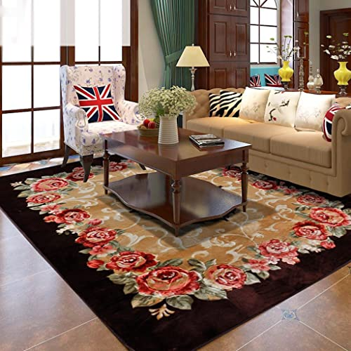 Rugs Supermarket European luxury Coffee Table Bedroom Carpet Roses Wedding Bed Covered with Thick Rectangle Large