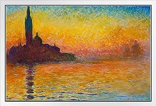 Claude Monet Sunset in Venice Or Dusk in Venice Impressionist Poster 12x18 Sunset Dusk Twilight in Venice Painting Art Fra...