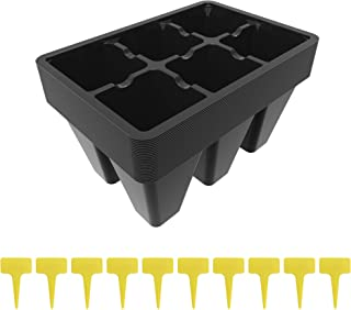 Sponsored Ad - Gardzen Black Seed Starter Trays, Reusable Plant Plastic Seedling Trays, 25 Pack, Comes with 10 pcs Tags
