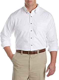 Harbor Bay by DXL Big and Tall Easy-Care Solid Sport Shirt