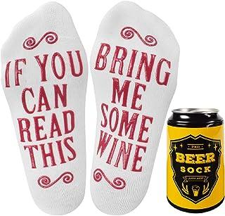 Tuopuda, Calcetines divertidos para mujer y hombre, para leer con el león, calcetines de algodón, 1 o 2 pares de calcetines para tobillo