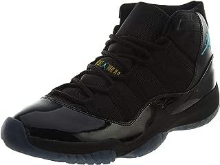 Nike Mens Air Jordan 11 Retro Black/Gamma Blue Leather Basketball Shoes Size 11