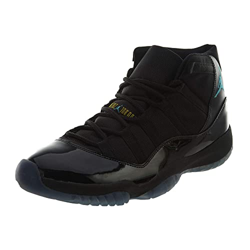 super popular 80c5d 1dd5d Nike Mens Air Jordan 11 Retro Black Gamma Blue Leather Basketball Shoes  Size 11